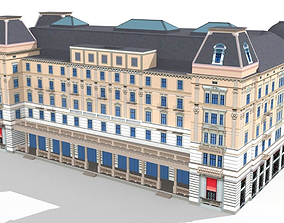 Zurich Corner Building Bellevueplatz-5 3D asset