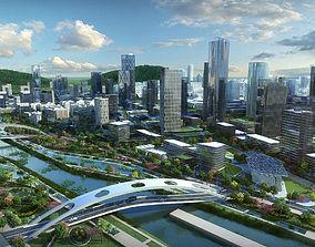 3D model Modern City Animated 041