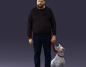 Man with dog 0465 3D
