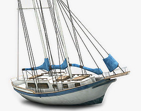 3D asset Sailboat 2