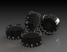 Gherson guitar - knob 3D