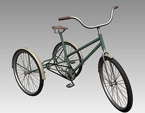 tricycle 3D model low-poly Bicycle