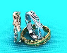 wedding ring tracery 3D print model