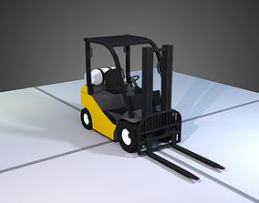 Low Poly Fork Lift 3D model