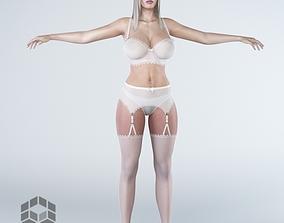 Woman 5v2 3D model pantie