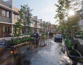 3D model Housing Complex Lumion Rendering
