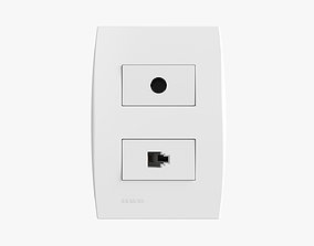 Siemens 1 Ethernet And Tv Outlets 3D