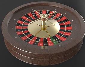 3D Mahogany Roulette Wheel