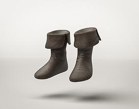 Roman Armor Militar Warrior Boots 3D asset