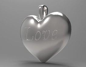 3D printable model Heart Love pendant
