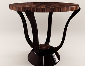 3D Side table - Art Deco style