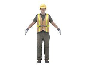 Construction Worker 3D model VR / AR ready