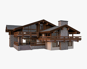 European Chalet House Villa 3D model