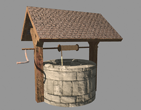 Medieval Well Game Ready 3D asset