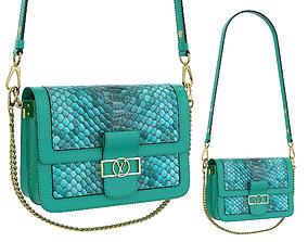 3D model Louis Vuitton Dauphine Bag Green Snake