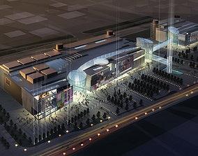Building Complex with Posh Outline 3D