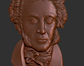 3D print model Bas-relief of Alexander Pushkin