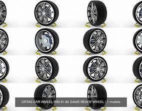 ORTAS CAR WHEEL RIM 81-82 GAME READY WHEEL 3D