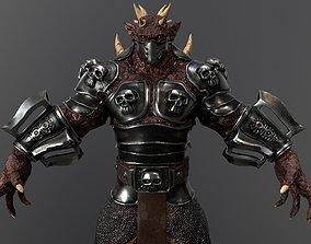 3D asset Burned Demon