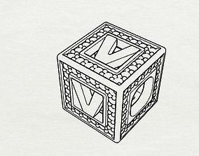 Baby Block Charm - V 3D print model