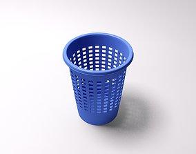 Plastic paper bin 3D model
