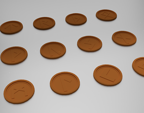 3D printable model 25 Norse Rune Coasters
