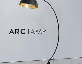 The Arc Black Floor Lamp 3D model