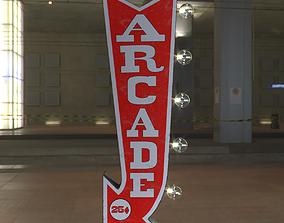 Vintage Arcade Games Marquee 3D asset