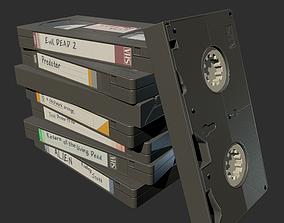 PBR Retro Video Cassette low-poly