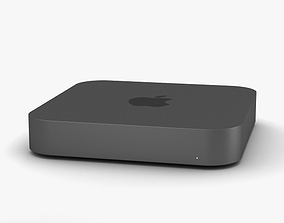 3D Apple Mac mini 2018 Space Gray