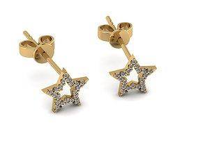 star Earrings 3D printable model