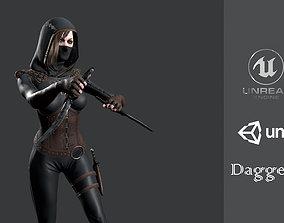 3D model Dagger Girl