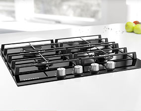 3D Black gas stove