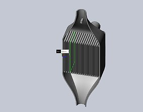 3D Printable Plastic Heatchanger Basic Cross Layout