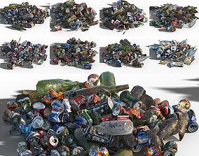 3D model game-ready Garbage set