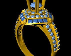 3D print model DiamondRing 18K WhiteGold