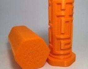 puzzle 3D print model Tube Style Maze Box - NEW MAZE