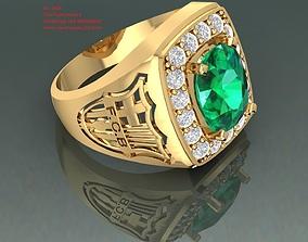 1606 Luxury Men Ring For Fans of Barcalona 3D print model