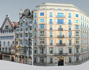 Barcelona Landmarks 3D model