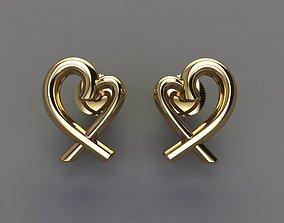 Dainty Heart Stud Earrings 3D printable model
