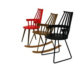 Kartell Comback Chairs 3D model