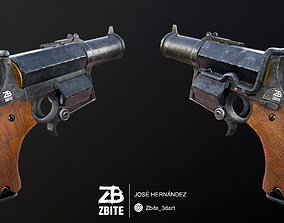 3D asset The Kampfpistol - Fan art Wolfenstein