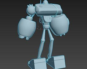 3D model low-poly Robot