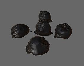3D model Black Garbage Bags