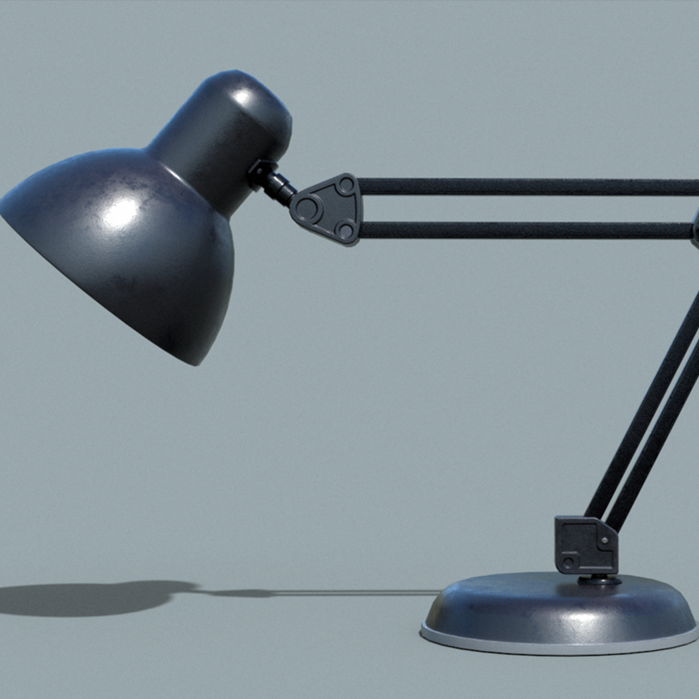 Office TableLamp Low-poly 3D model