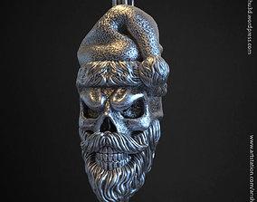 Santa claus skull vol1 pendant jewelry 3D print model