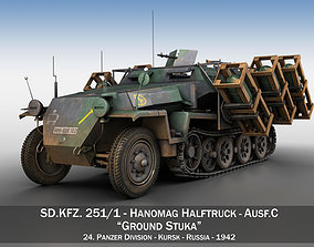 SDKFZ 251 1 - Ausf C - Ground Stuka - 24PD 3D