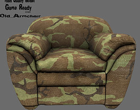 furniture Armchair 3D model realtime