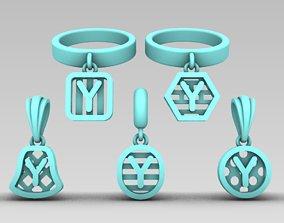 3D printable model Initial letter 7