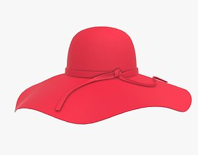 Woman summer sun hat 3D
